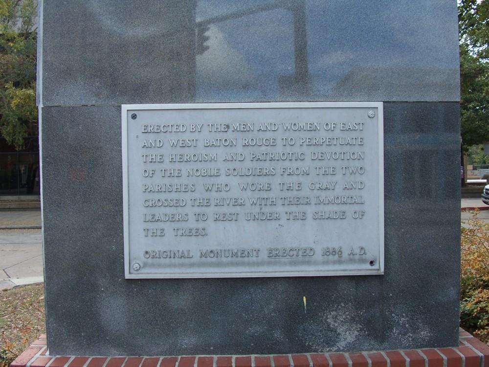 Confederate Monument Plaque
