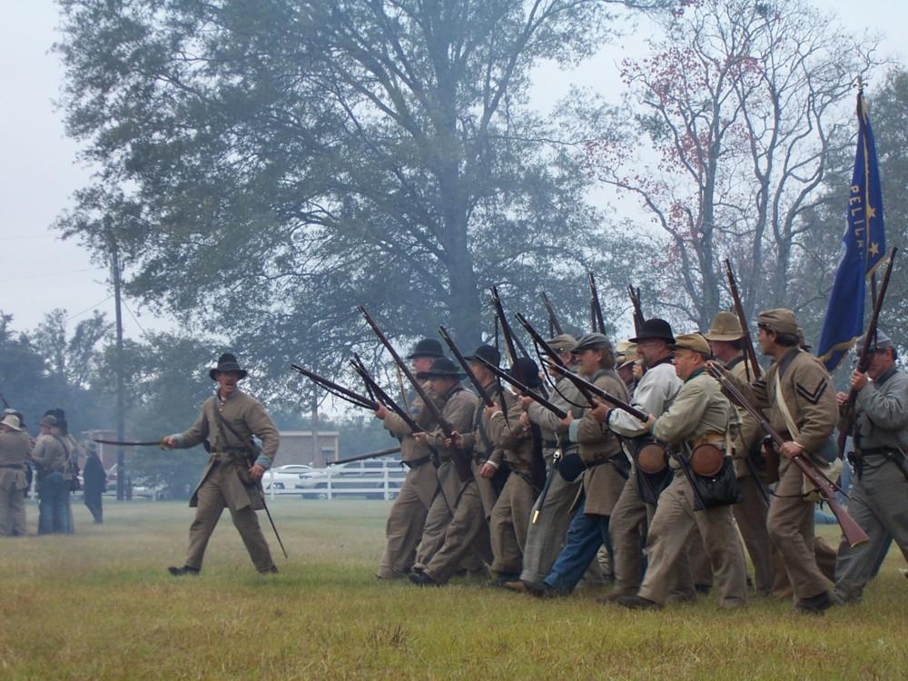 Confederate advance