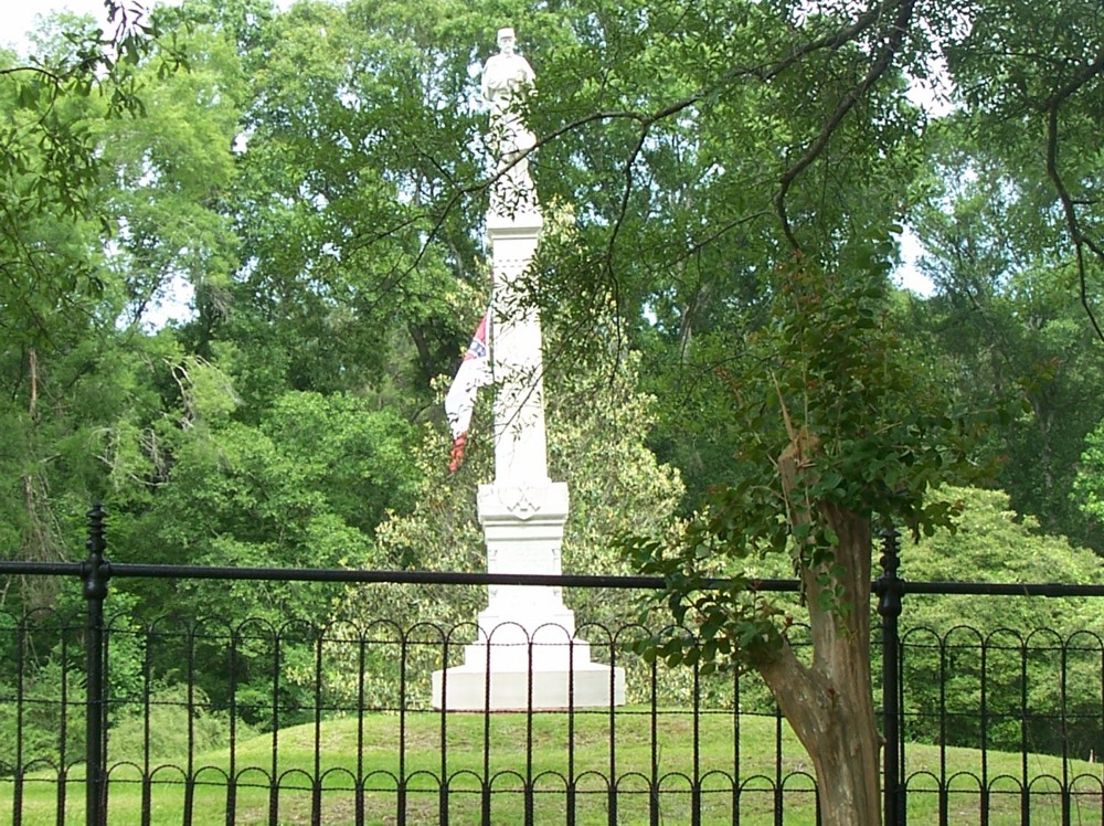 Confederate Statue at Camp Moore